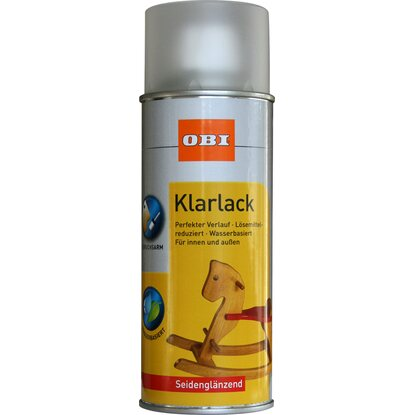 OBI Klarlack Spray Transparent seidenglänzend wv 400 ml