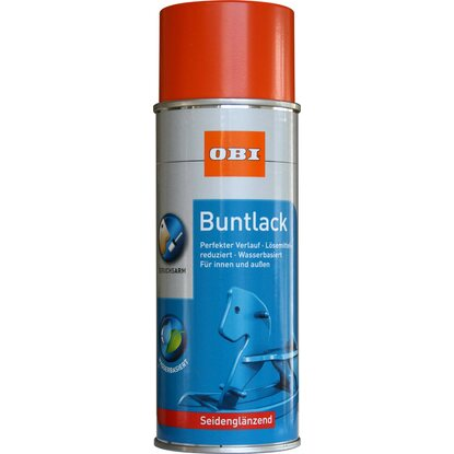 OBI Buntlack Spray Reinorange seidenglänzend wv 400 ml