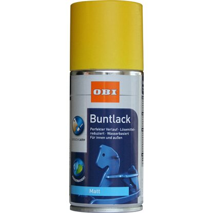 OBI Buntlack Spray Rapsgelb matt wv 150 ml