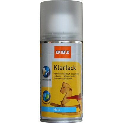 Obi Klarlack Spray Transparent Matt Wv 150 Ml Kaufen Bei Obi