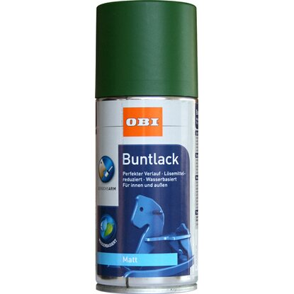 OBI Buntlack Spray Laubgrün matt wv 150 ml