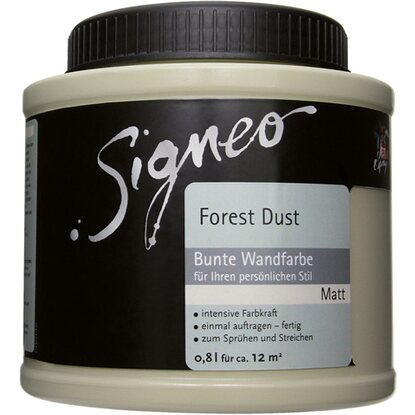 Signeo bunte Wandfarbe matt Forest Dust 800 ml