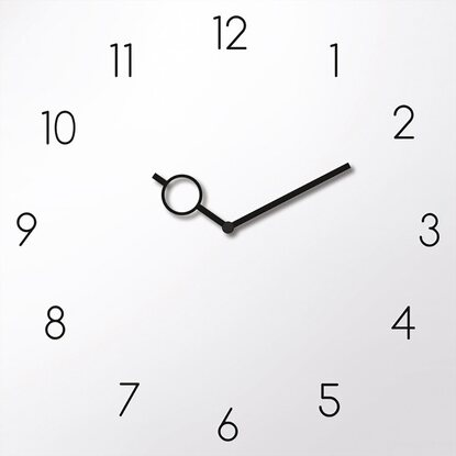 Eurographics Wanduhr Time Art Uhr White 30 cm x 30 cm