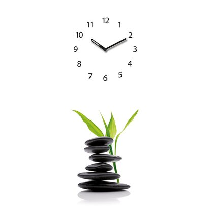 Eurographics Wanduhr Time Art Green Shelter 20 cm x 60 cm
