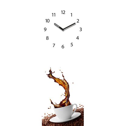 Eurographics Wanduhr Time Art Splashing coffee 20 cm x 60 cm