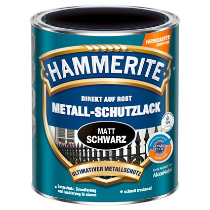 hammerite metall schutzlack schwarz matt 750 ml kaufen bei obi. Black Bedroom Furniture Sets. Home Design Ideas