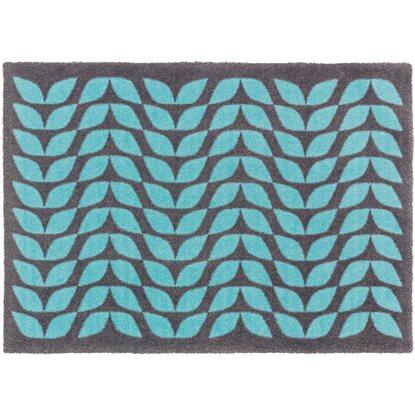 sch ner wohnen kollektion sauberlaufmatte brooklyn bl tterreihe blau 50 x 70 cm kaufen bei obi. Black Bedroom Furniture Sets. Home Design Ideas