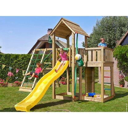 jungle gym holzspielturm mansion kletterger st mit rutsche gelb kaufen bei obi. Black Bedroom Furniture Sets. Home Design Ideas