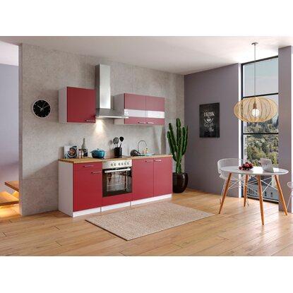 respekta k chenzeile kb210wrc 210 cm rot wei kaufen bei obi. Black Bedroom Furniture Sets. Home Design Ideas