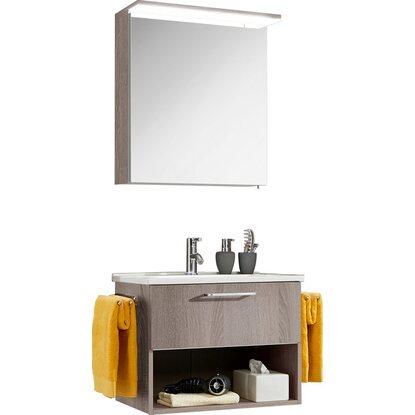 optifit badm bel set maxx 65 cm kastanie mit auszug und. Black Bedroom Furniture Sets. Home Design Ideas