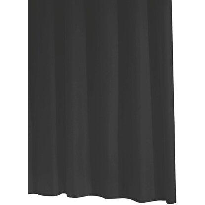 Ridder Duschvorhang Folie Standard Schwarz 180 cm x 200 cm inkl. Ringe