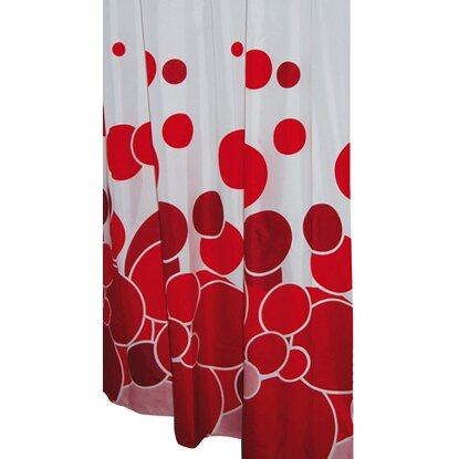 Ridder Duschvorhang Textil Kani Rot 200 cm x 180 cm