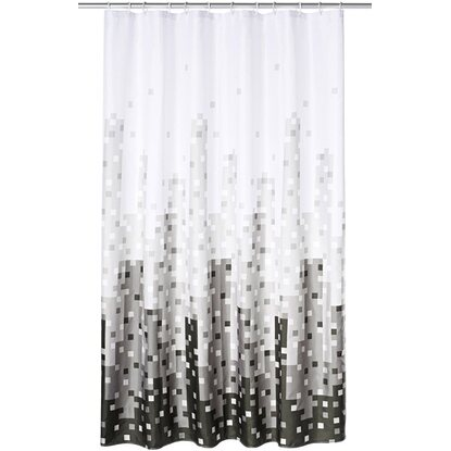Ridder Duschvorhang Textil Skyline 180 cm x 200 cm inkl. Ringe
