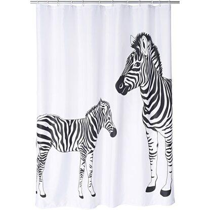 Ridder Duschvorhang Textil Zebra 180 cm x 200 cm inkl. Ringe