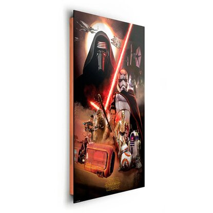 wandbild star wars the force awakens 60 cm x 90 cm kaufen bei obi. Black Bedroom Furniture Sets. Home Design Ideas