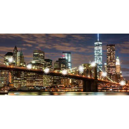 eurographics leinwandbild mit led new york city lights ii 55 cm x 115 cm kaufen bei obi. Black Bedroom Furniture Sets. Home Design Ideas
