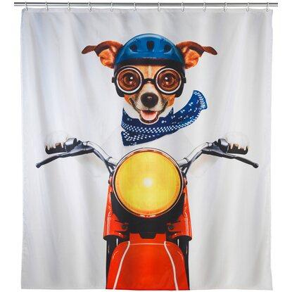 Wenko Duschvorhang Biker Dog 180 cm x 200 cm