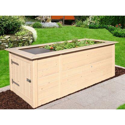 weka hochbeet mit schrank natur kaufen bei obi. Black Bedroom Furniture Sets. Home Design Ideas