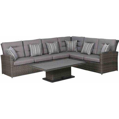 Siena Garden Lounge-Gruppe Porto 5-tlg. 82,5 cm x 137 cm x 90 cm ...