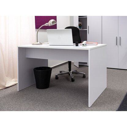 schreibtisch 120 cm x 80 cm in brilliant wei kaufen bei obi. Black Bedroom Furniture Sets. Home Design Ideas