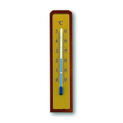 TFA Innen-Thermometer Nussbaum-Optik