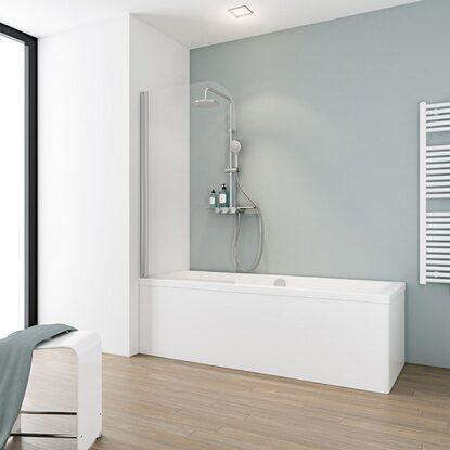 Schulte badewannenaufsatz 1 teilig einfach ohne bohren - Duschwand ohne bohren ...