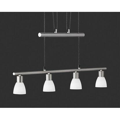 Trio LED-Pendelleuchte Caprico Nickel matt dimmbar EEK: A+