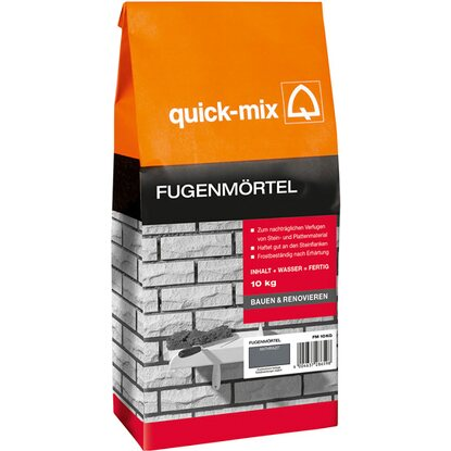 Quick-Mix Fugenmörtel Anthrazit 10 kg
