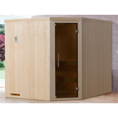 Weka Element-Ecksauna 508 OS Set Gr. 4 mit Glastür
