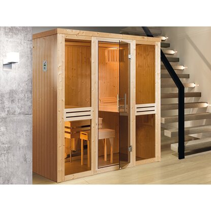 Weka Elementsauna 506 OS Set Gr. 3 mit Glastür