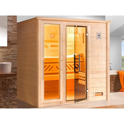 Weka Massivholz-Sauna Colour Edition 530 BioS Set Gr. 3 mit Fensterelement