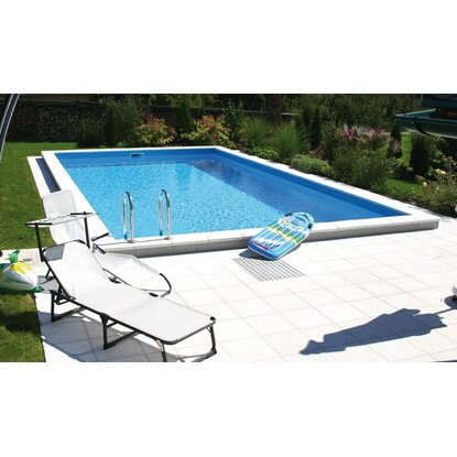 Summer Fun Styropor-Pool Set Einbaubecken Lugano 700 cm x 350 cm x 150 cm