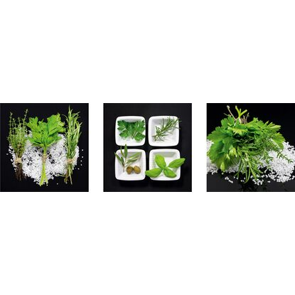 Eurographics Deco Print Black Herb Interplay 30 cm x 30 cm