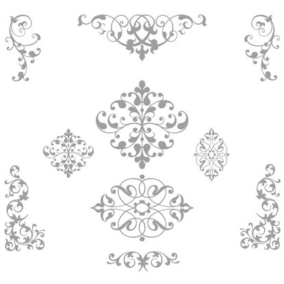 Eurographics Fensterstickers Decorative Ornaments 50 cm x 70 cm