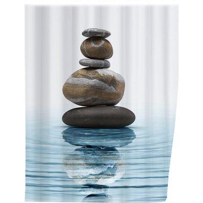 "Wenko Duschvorhang ""Meditation"", 200x180 cm, Polyester"