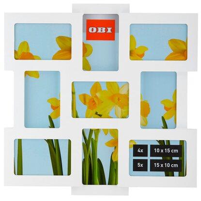 obi multi bilderrahmen f r 9 bilder wei kaufen bei obi. Black Bedroom Furniture Sets. Home Design Ideas