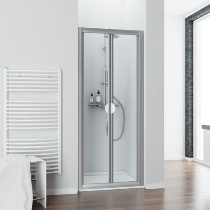 schulte faltt r kristall trend 90 cm x 185 cm echtglas klar hell kaufen bei obi. Black Bedroom Furniture Sets. Home Design Ideas