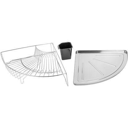 wenko eck geschirrabtropfer edelstahl rostfrei 10 5 cm x 37 5 cm x 37 5 cm kaufen bei obi. Black Bedroom Furniture Sets. Home Design Ideas