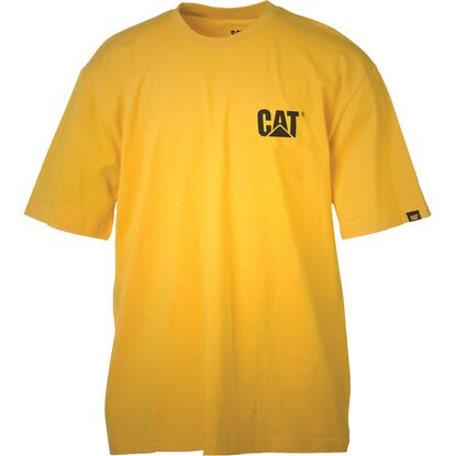 Cat T-Shirt Logo Gelb XXL
