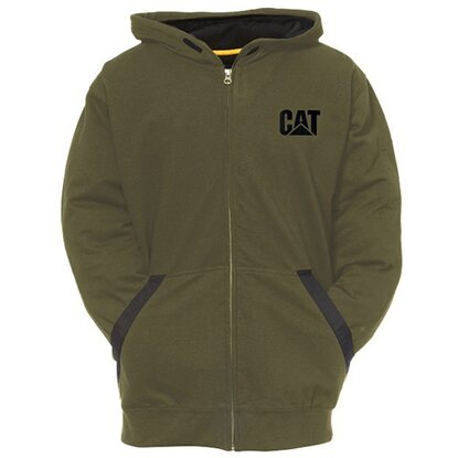Cat Kapuzenjacke Tec Moosgrün XL