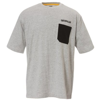 Cat T-Shirt Workman Pocket Grau L