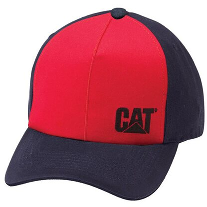 Cat Schirmmütze Side Logo Rot Blau