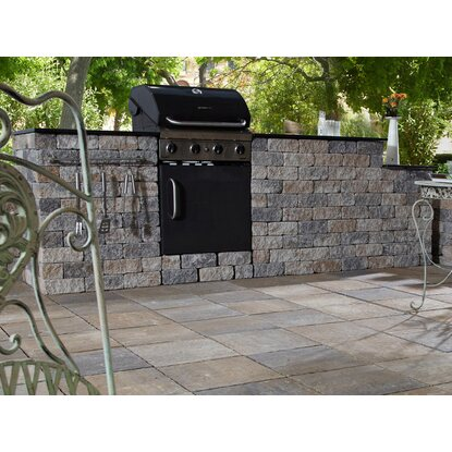 "EHL Outdoor Kitchen ""XL"" Muschelkalk 305 cm x 100 cm x 75 cm"
