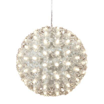 obi led leuchtkugel mit bl ten 100 led kaltwei kaufen bei obi. Black Bedroom Furniture Sets. Home Design Ideas