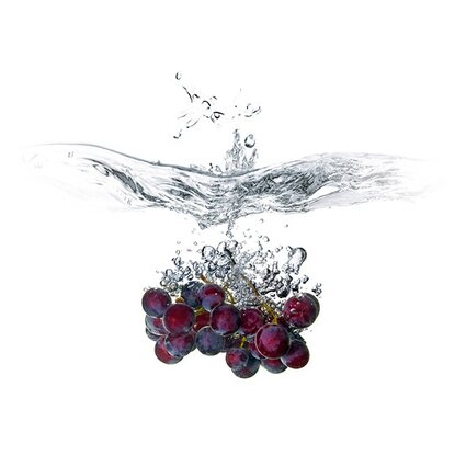 Kitchen Glas Spritzschutz Grape Splash 50 cm x 90 cm