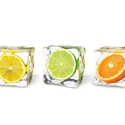 Kitchen Glas Spritzschutz Fruits In Cubes 50 cm x 90 cm