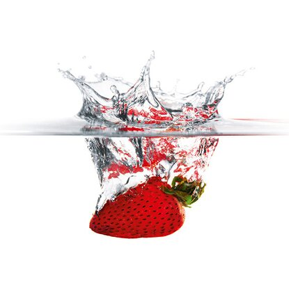 Kitchen Glas Spritzschutz Strawberry Splash 50 cm x 90 cm