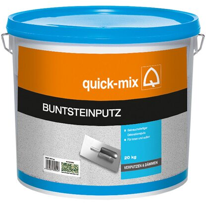 Quick-Mix Buntsteinputz Moosgrün Körnung 1 - 1,5 mm 20 kg
