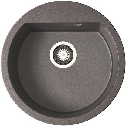 k chenfreund einbausp le gn 101 granite iron grey rund kaufen bei obi. Black Bedroom Furniture Sets. Home Design Ideas