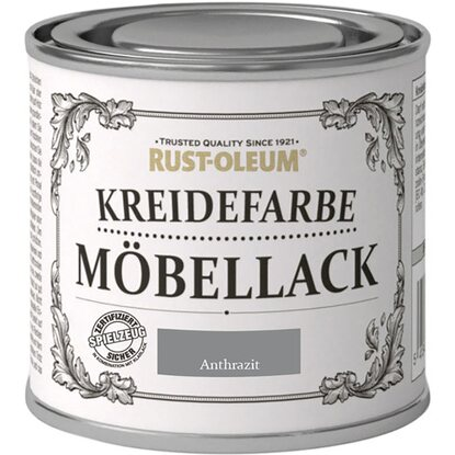 rust oleum m bellack kreidefarbe anthrazit matt 125 ml. Black Bedroom Furniture Sets. Home Design Ideas